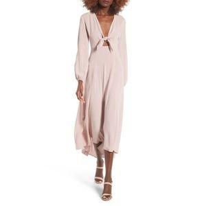 Lush Tie Front Maxi Dress, size M